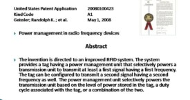 Power Management in Radio Frequency Devices