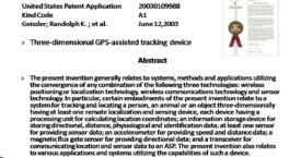 Three-dimensional GPS Assisted Tracking Device
