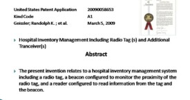 Hospital Inventory Management Including Radio Tags and Additional Transceivers